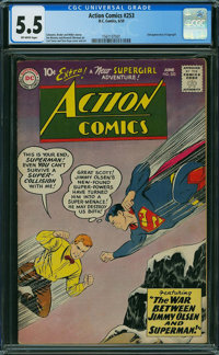 Action Comics #253 (DC, 1959) CGC FN- 5.5 OFF-WHITE pages
