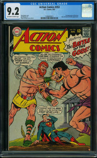 Action Comics #353 (DC, 1967) CGC NM- 9.2 OFF-WHITE TO WHITE pages