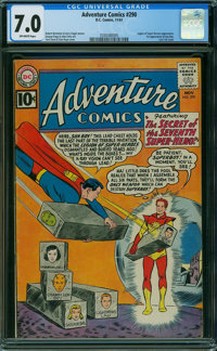 Adventure Comics #290 (DC, 1961) CGC FN/VF 7.0 OFF-WHITE pages