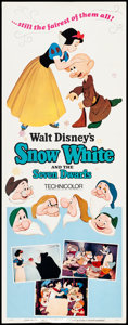 """Movie Posters:Animation, Snow White and the Seven Dwarfs & Others Lot (Buena Vista, R-1967). Inserts (2) (14"""" X 36""""). Animation.. ... (Total: 2 Items)"""