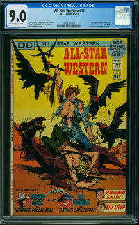 All-Star Western #11 (DC, 1972) CGC VF/NM 9.0 OFF-WHITE TO WHITE pages