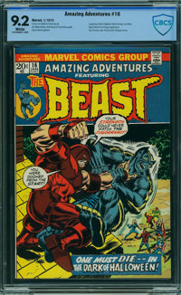 Amazing Adventures #16 - CBCS CERTIFIED (Marvel, 1973) CGC NM- 9.2 White pages
