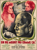 "Movie Posters:Crime, One Does Not Die That Way (Astra Paris Films, 1946). French Grande (46.75"" X 63"") Vincent Cristellys Artwork. Crime.. ..."