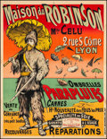 "Movie Posters:Miscellaneous, Maison Du Robinson (Late 1800s). French Grande (42.25"" X 54.5""). Miscellaneous.. ..."