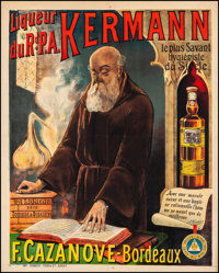 "Father Kermann's Liqeuer (c. 1900s). Advertising French Grande (41"" X 51.25""). Miscellaneous"