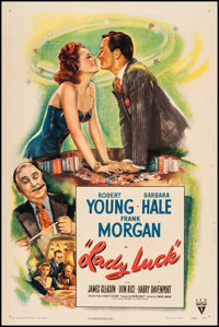 "Lady Luck (RKO, 1946). One Sheet (27"" X 41""). From the Collection of Frank Buxton, of which the sale's proceed..."