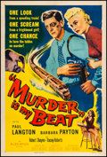 "Movie Posters:Film Noir, Murder is My Beat (Allied Artists, 1955). One Sheet (27"" X 41"").From the Collection of Frank Buxton, of which the sale's ..."