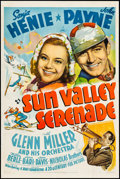 """Movie Posters:Musical, Sun Valley Serenade (20th Century Fox, 1941). One Sheet (27.25"""" X 41"""") Style B. From the Collection of Frank Buxton, of wh..."""