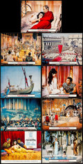"Movie Posters:Drama, Cleopatra (20th Century Fox, 1963). Lobby Card Set of 9 (11"" X 14""). Drama.. ... (Total: 9 Items)"