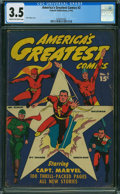 Golden Age (1938-1955):Superhero, America's Greatest Comics #2 (Fawcett Publications, 1942) CGC VG- 3.5 CREAM TO OFF-WHITE pages.