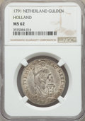 Netherlands:Holland, Netherlands: Holland. Provincial Gulden 1791 MS62 NGC,...
