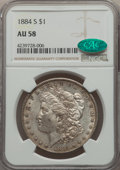 Morgan Dollars, 1884-S $1 AU58 NGC. CAC....