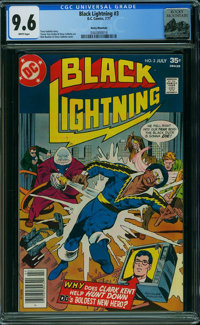 Black Lightning #3 - Rocky Mountain (DC, 1977) CGC NM+ 9.6 WHITE pages