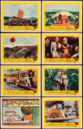 "Movie Posters:Adventure, Around the World in 80 Days (United Artists, R-1958). Very Fine-. Lobby Card Set of 8 (11"" X 14""). Adventure.. ... (Total: 8 Items)"