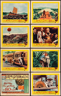 """Around the World in 80 Days (United Artists, R-1958). Very Fine-. Lobby Card Set of 8 (11"""" X 14""""). Adventure..."""