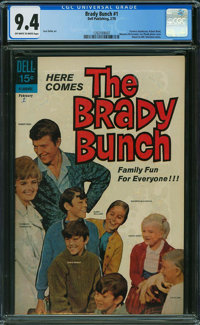 The Brady Bunch #1 (Dell, 1970) CGC NM 9.4 OFF-WHITE TO WHITE pages