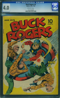 Buck Rogers #5 (Eastern Color, 1943) CGC VG 4.0 OFF-WHITE pages