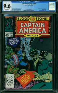 Captain America #360 (Marvel, 1989) CGC NM+ 9.6 WHITE pages