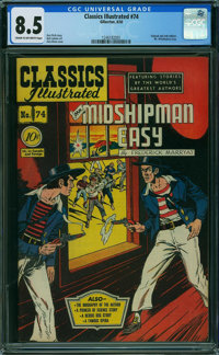 Classics Illustrated 74 First Edition - ORIGINAL & ONLY EDITION (Gilberton, 1950) CGC VF+ 8.5 Cream to off-white...