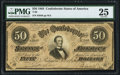 Confederate Notes:1864 Issues, T66 $50 1864 PF-5 Cr. 498 PMG Very Fine 25.. ...