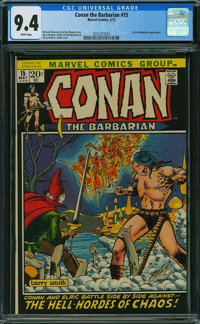 Conan the Barbarian #15 (Marvel, 1972) CGC NM 9.4 WHITE pages