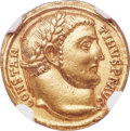 Ancients:Roman Imperial, Ancients: Constantine I the Great (AD 307-337). AV aureus (19mm,5.25 gm, 12h). NGC Choice XF 5/5 - 3/5, edge marks....
