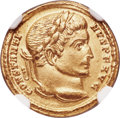 Ancients:Roman Imperial, Ancients: Constantine I the Great (AD 307-337). AV solidus (19mm,4.43 gm, 7h). NGC AU 5/5 - 3/5, edge marks....