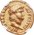 Ancients:Roman Imperial, Ancients: Nero (AD 54-68). AV aureus (19mm, 7.31 gm, 7h). NGC XF5/5 - 3/5, edge marks....