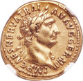 Ancients:Roman Imperial, Ancients: Trajan (AD 98-117). AV aureus (19mm, 7.16 gm, 7h). NGC Choice VF 5/5 - 3/5, edge marks....