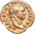 Ancients:Roman Imperial, Ancients: Titus, as Caesar (AD 79-81). AV aureus (20mm, 7.04 gm,7h). NGC VF 5/5 - 3/5....