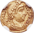 Ancients:Roman Imperial, Ancients: Constantius III, Western Roman Empire (8 February-2September AD 421). AV tremissis (12mm, 1.31 gm, 5h). NGC XF 5/5 -2/5, cli...