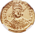Ancients:Roman Imperial, Ancients: Julius Nepos, Western Roman Empire (First Reign, AD 474-475). AV solidus (21mm, 4.35 gm, 7h). NGC AU 4/5 - 3/5, scuff....