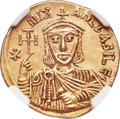 Ancients:Byzantine, Ancients: Michael II the Amorian, with Theophilus (ca. 821-829). AVsolidus (21mm, 4.47 gm, 6h). NGC Choice AU 5/5 - 4/5....