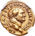 Ancients:Roman Imperial, Ancients: Vespasian (AD 69-79). AV aureus (21mm, 7.13 gm, 6h). NGC Choice VF ★ 5/5 - 4/5....