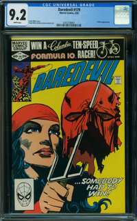Daredevil #179 (Marvel, 1982) CGC NM- 9.2 WHITE pages