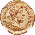 Ancients:Roman Imperial, Ancients: Commodus (AD 177-192). AV aureus (20mm, 7.21 gm, 2h). NGCChoice VF 5/5 - 3/5, edge marks....