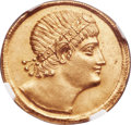 Ancients:Roman Imperial, Ancients: Constantine I the Great (AD 307-337). AV solidus (22mm, 4.49 gm, 6h). NGC MS 5/5 - 3/5, scuff....