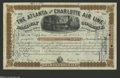 Stocks and Bonds:Railroad Certificates, Atlanta and Charlotte Air LIne Stock Certificate This is the first time we have offered a stock certificate from this rail l...