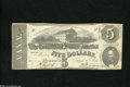 Confederate Notes:1863 Issues, T60 $5 1863. This is a scarcer variety that comes from the firstmonth of issue and it also has the date of issue printed in...