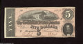 Confederate Notes:1864 Issues, T69 $5 1864. This $5 is unhindered by circulation. Crisp Uncirculated....