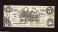 Obsoletes By State:Alabama, Montgomery, AL- State of Alabama $5 Jan. 1, 1864 This lightly handled note has escaped all these years without a scratch. ...