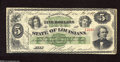 Obsoletes By State:Louisiana, New Orleans, LA- State of Louisiana $5 Dec. 20, 1866 This is a gorgeous and bright scarce antebellum note that was engraved...