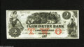 Obsoletes By State:New Hampshire, Farmington, NH- Farmington Bank $2 18__ This colorful obsolete has a vignette showing bovine negotiations in progress. Ch...