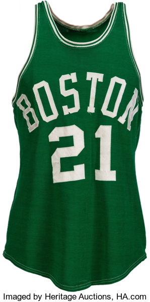 the best attitude 2a233 9d9b7 1950's Bill Sharman Game Worn Boston Celtics Jersey, MEARS ...