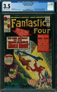 Fantastic Four #31 (Marvel, 1964) CGC VG- 3.5 OFF-WHITE TO WHITE pages
