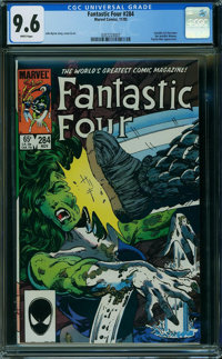 Fantastic Four #284 (Marvel, 1985) CGC NM+ 9.6 WHITE pages