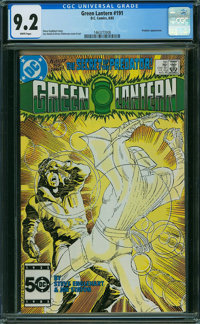 Green Lantern #191 (DC, 1985) CGC NM- 9.2 WHITE pages