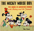 Memorabilia:Disney, The Mickey Mouse Box #2146 with Six Hardcover Books (Whitman, 1939).... (Total: 7 Items)
