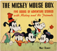 The Mickey Mouse Box #2146 with Six Hardcover Books (Whitman, 1939).... (Total: 7 Items)