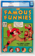 Platinum Age (1897-1937):Miscellaneous, Famous Funnies #4 Lost Valley Pedigree (Eastern Color, 1934) CGC FN6.0 Cream to off-white pages....